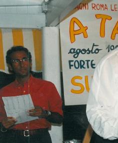 1993 - Forte dei Marmi, bagno Roma Levante - Un giovane e già simpatico Carlo Conti