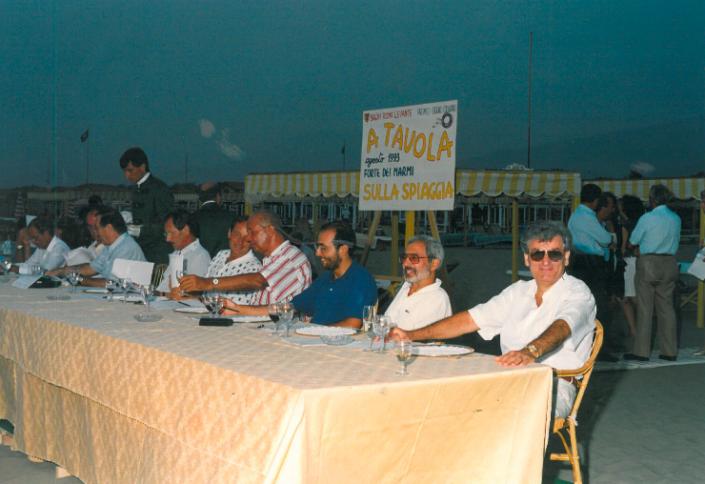 1993 - Forte dei Marmi, bagno Roma Levante - la giuria