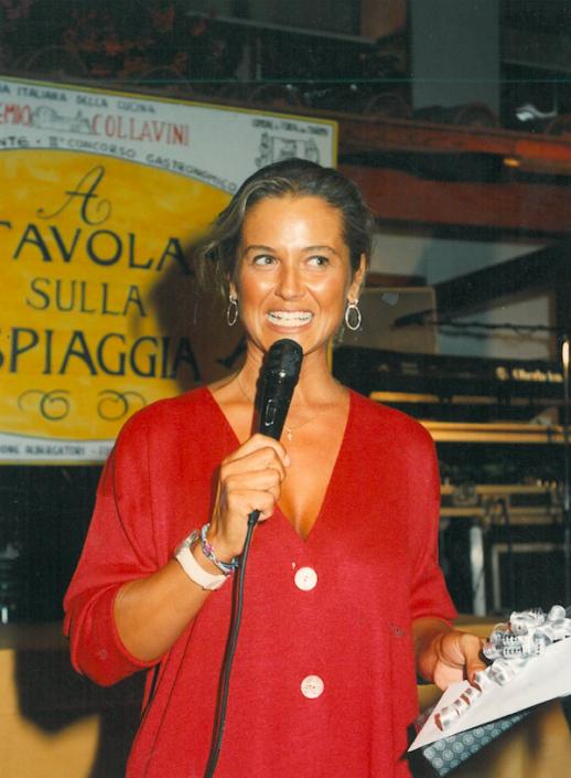 1994 - Forte dei Marmi, La Capannina - Mariagela Fagioli alla premiazione