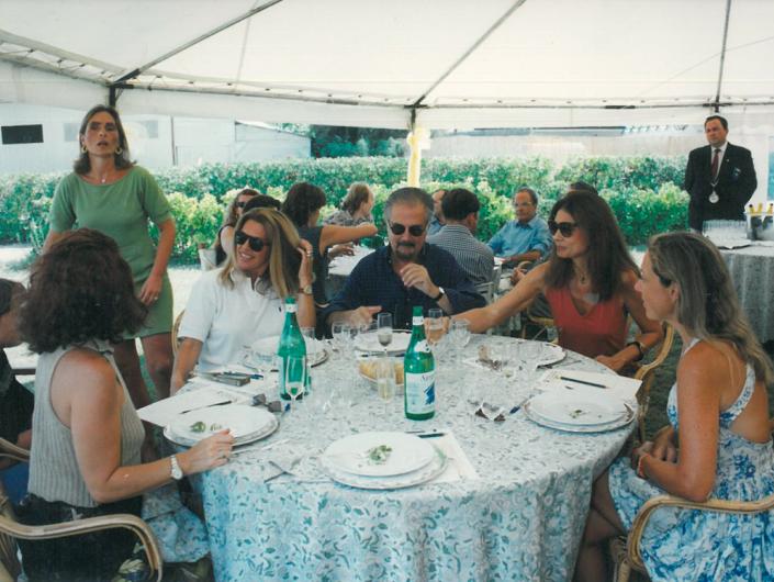 1994 - Forte dei Marmi, bagno Roma Levante - Beba Grida, Flavia Mercatali, Fernando Botero, Sophie Vari, Antonella Boralevi