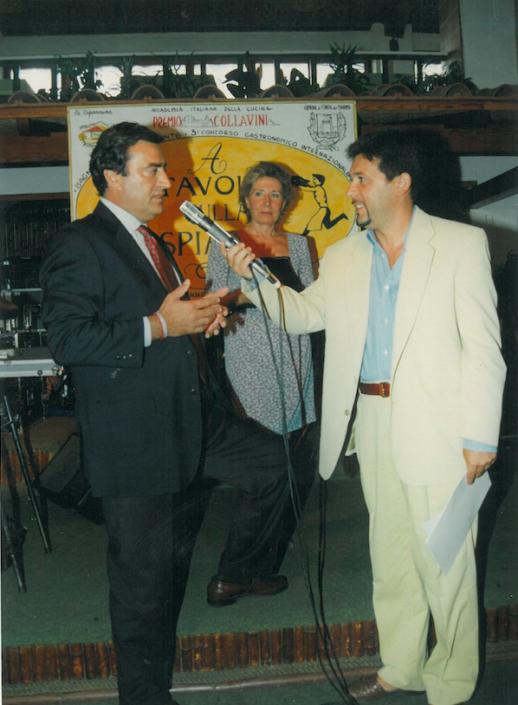 1995 - Forte dei Marmi, La Capannina - Il direttore de La Nazione Francesco Carrassi
