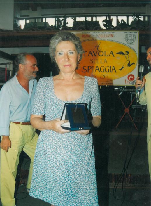 1995 - Forte dei Marmi, La Capannina - La scrittrice Francesca Duranti