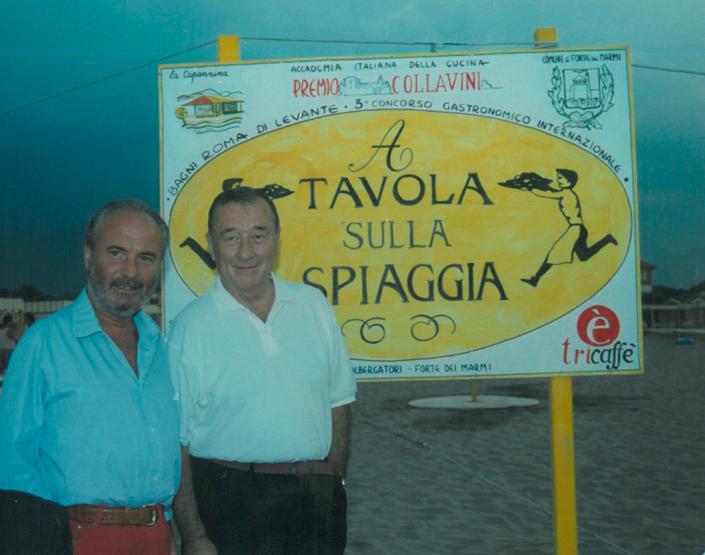 1995 - Forte dei Marmi, bagno Roma Levante - Gianni Mercatali e Sirio Maccioni