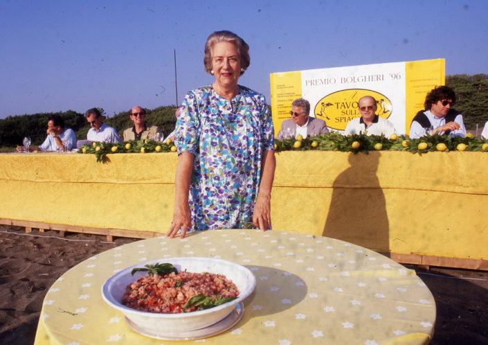 1996 - Marina di Castagneto Carducci, spiagga Le Sabine - Adriana della Gherardesca
