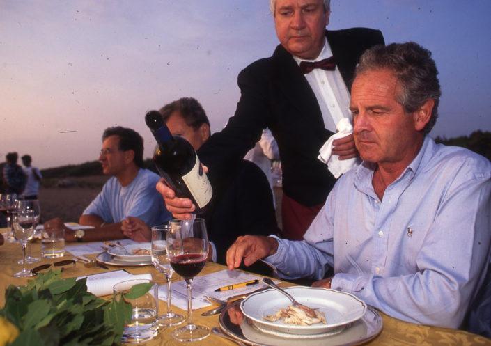 1996 - Marina di Castagneto Carducci, spiagga Le Sabine - Il Marchese Piero Antinori