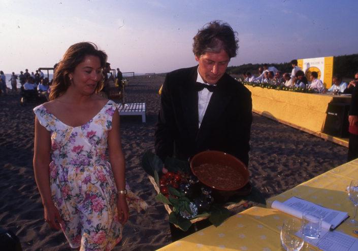 1996 - Marina di Castagneto Carducci, spiagga Le Sabine - Laura dal Pozzo