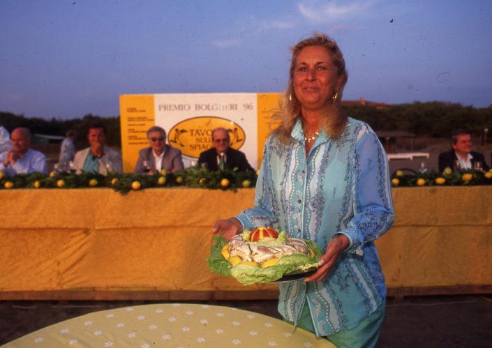 1996 - Marina di Castagneto Carducci, spiagga Le Sabine - Marchesa Francesca Antinori