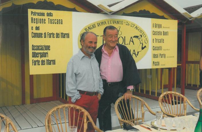 1997 - Forte dei Marmi, bagno Roma Levante - Gianni Mercatali e Sirio Maccioni