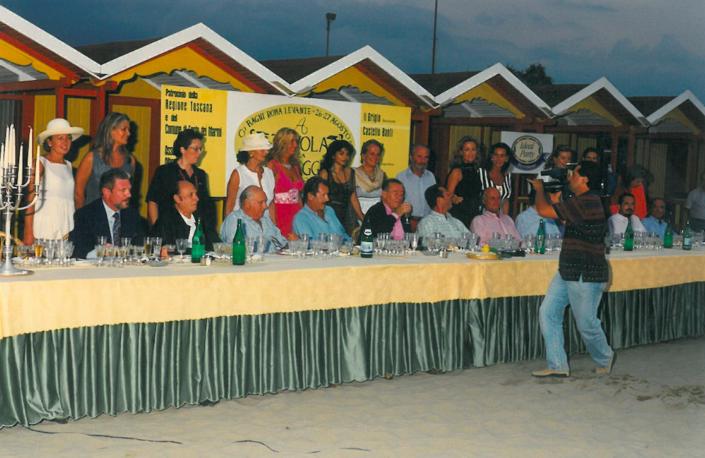 1997 - Forte dei Marmi, bagno Roma Levante - La Giuria con le concorrenti