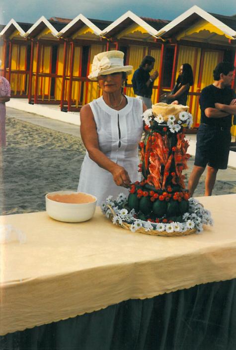 1997 - Forte dei Marmi, bagno Roma Levante - Marchesa Laura Mansi Salom