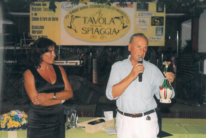 1999 - Forte dei Marmi, La Capannina - Rosaria Panatta e Giovanni Bartolozzi