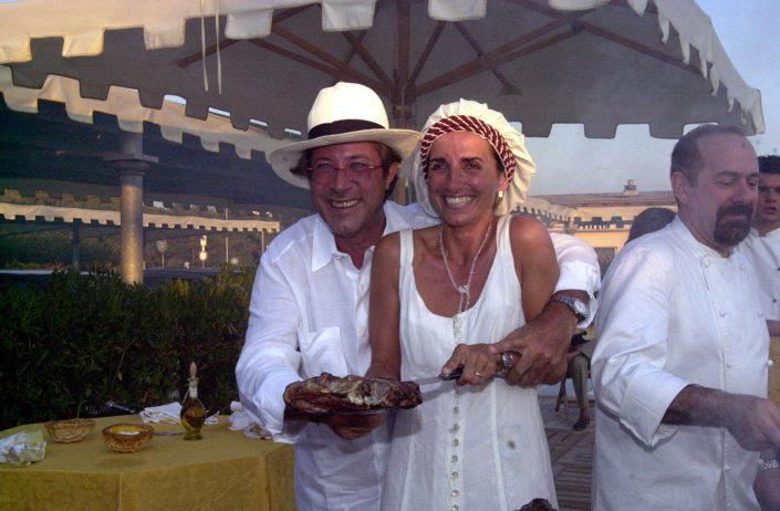 2001 - Forte dei Marmi, bagno Roma Levante - Sandro Vannucci e Daniela Soderi (2)