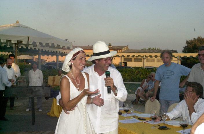 2001 - Forte dei Marmi, bagno Roma Levante - Sandro Vannucci e Daniela Soderi (3)