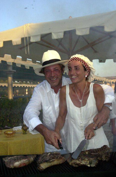 2001 - Forte dei Marmi, bagno Roma Levante - Sandro Vannucci e Daniela Soderi
