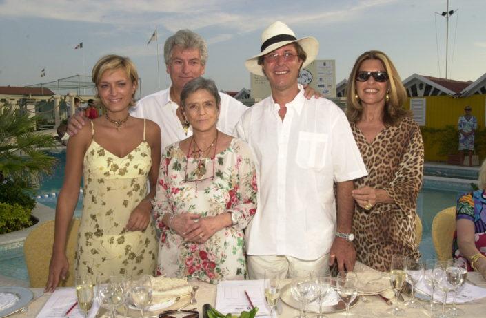 2002 - Forte dei Marmi, bagno Roma Levante - Anna Maschio, Liliana de Curtis, Gherardo Guidi, Sandro Vannucci e Flavia Mercatali