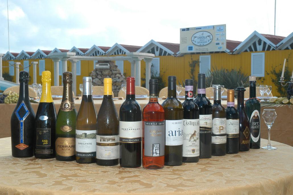 2004 - Forte dei Marmi, bagno Roma Levante - i vini in degustazione