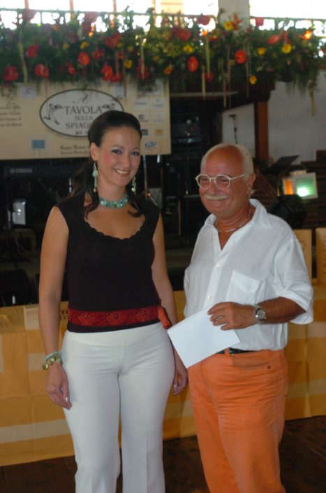 """La Capannina premiazione di """" A Tavola sulla spiaggia 2005 """""""