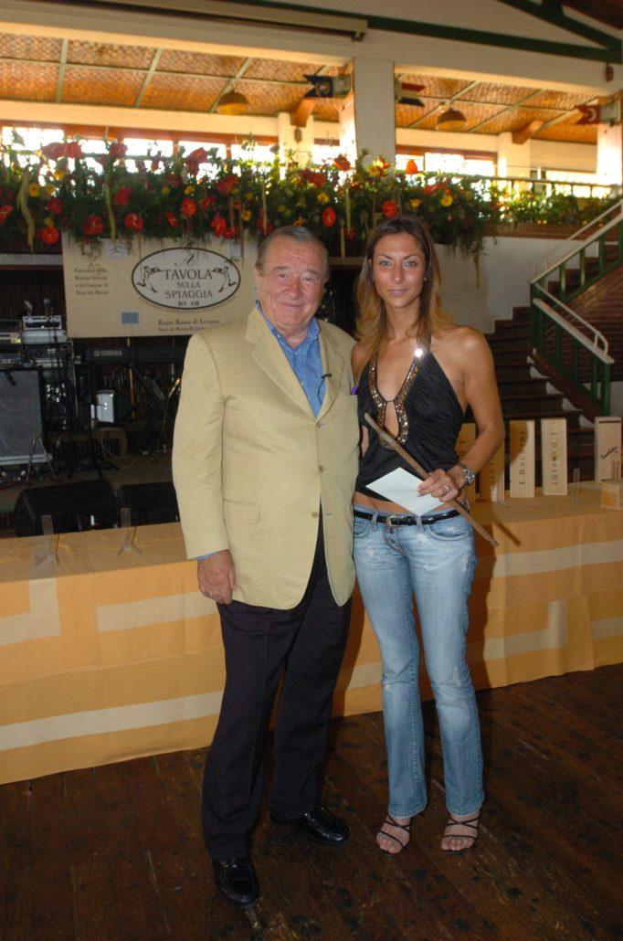 2005 - Forte dei Marmi – La Capannina Sirio Maccioni e Francesca Pardini