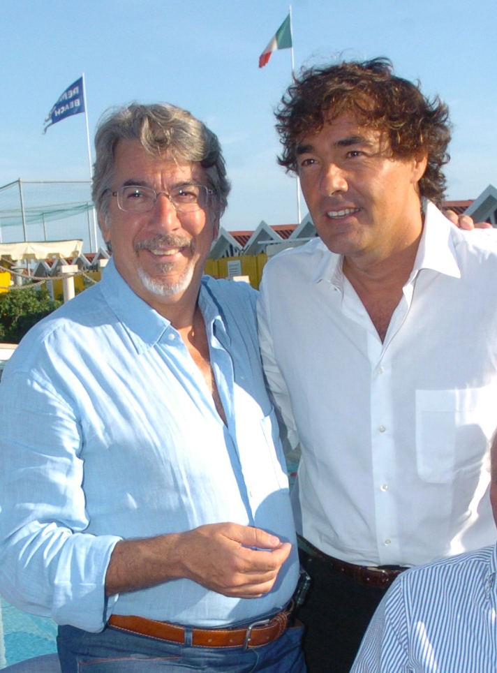 2005 - Forte dei Marmi – bagno Roma di Levante Marco Columbro e Massimo Giletti