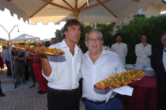 2005 - Forte dei Marmi – bagno Roma di Levante Massimo Giletti e Guido Guidi 2