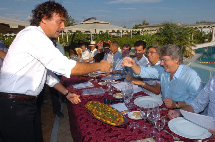 2005 - Forte dei Marmi – bagno Roma di Levante Massimo Giletti e Marco Columbro