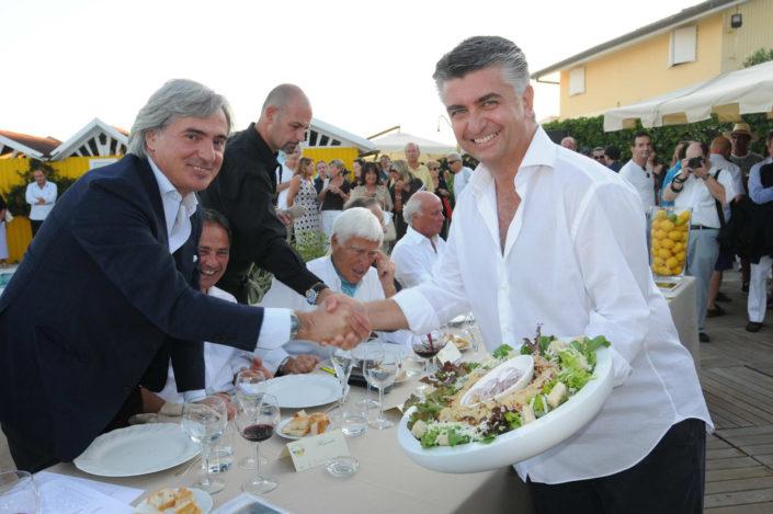 2008 - Forte dei Marmi – Bagno Roma di Levante - I 2 sindaci_ Umberto Buratti e Massimo Mallegni