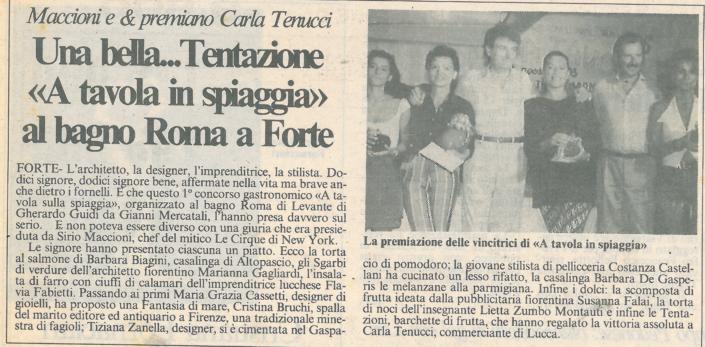 Così i giornali nell'agosto del 1993