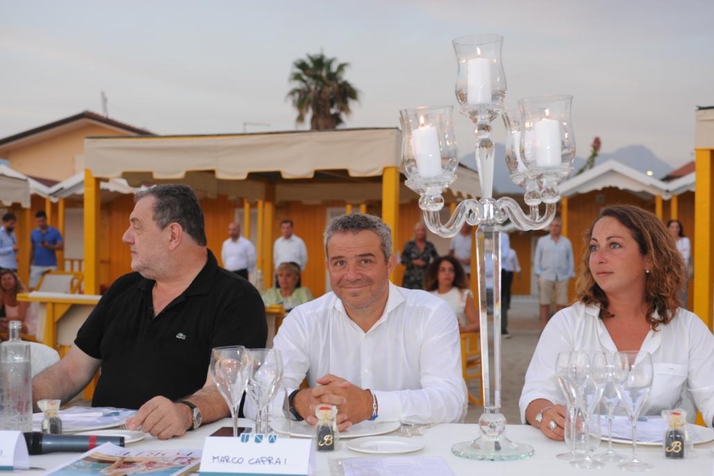 Gianfranco Vissani, Marco Caprai e Diana D'Isanto