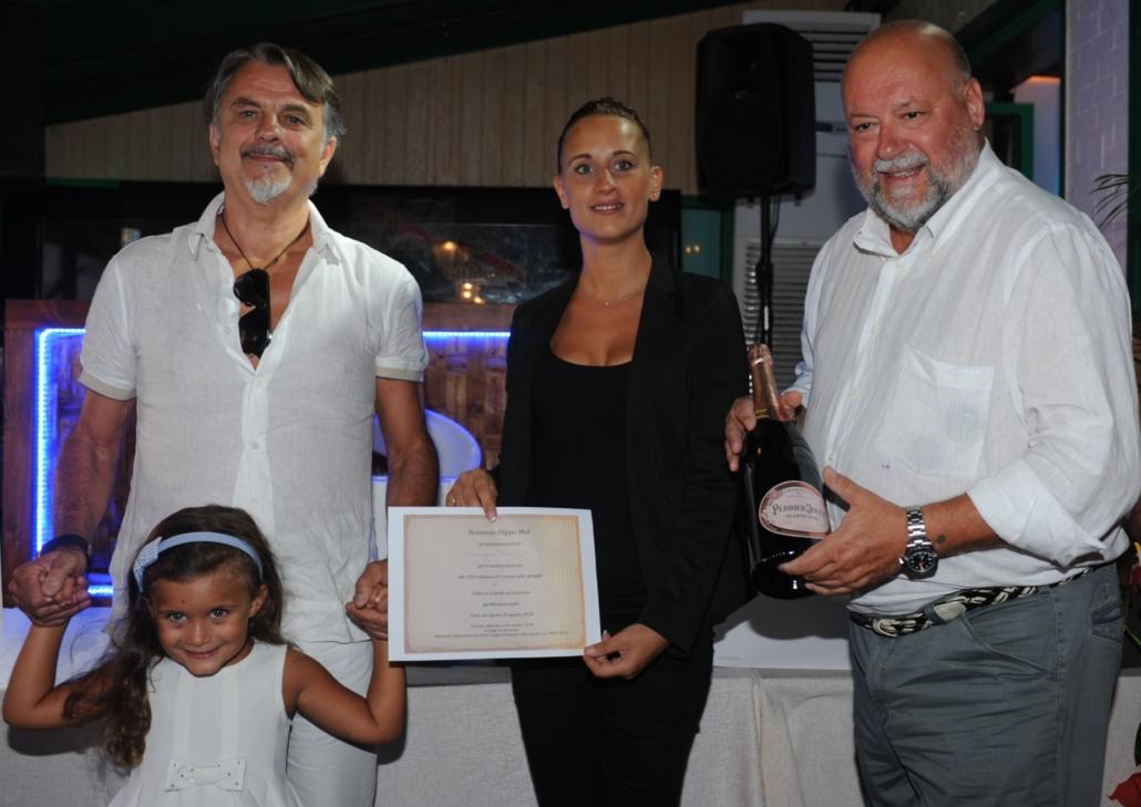 Paolo Trevisan con la nipotina Carlotta,Valeria di Filippo MUD e Leo Damiani