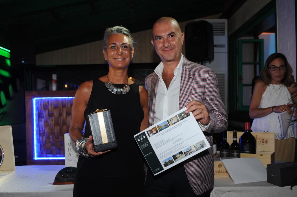 Danilo D'Angelo premia Chiara Voliani
