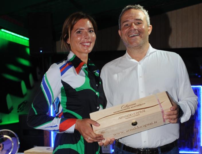 Gaia Franceschi premiata da Marco Caprai